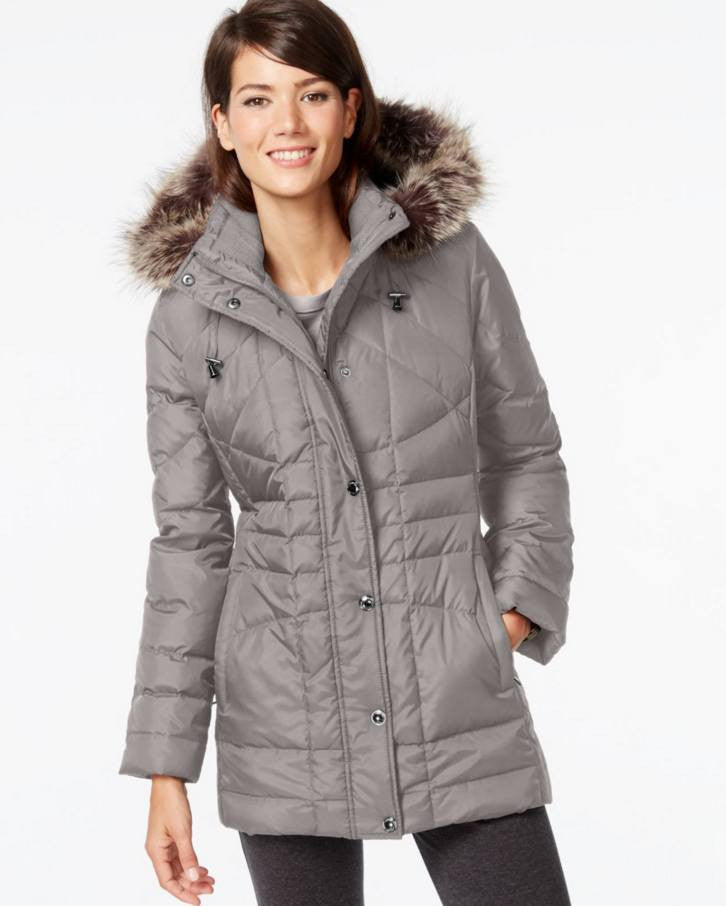 London Fog Down Coat, Faux-Fur Hooded Puffer Parka-LONDON FOG-Fashionbarn shop