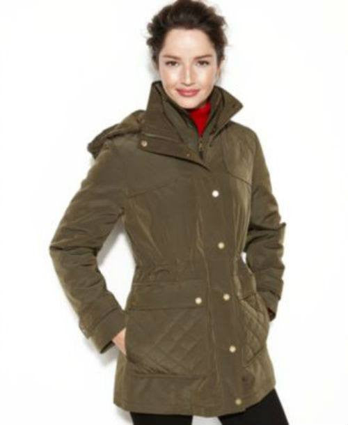 London Fog Jacket, Hooded Quilted Anorak : quilted anorak - Adamdwight.com