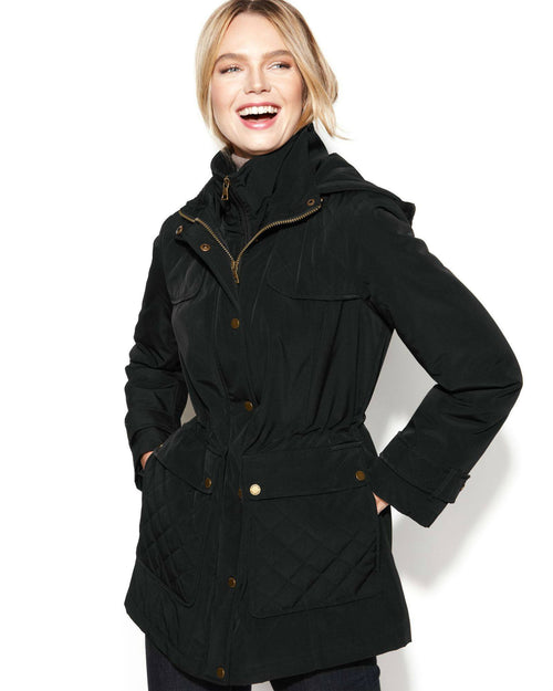 London Fog Jacket, Hooded Quilted Anorak-LONDON FOG-Fashionbarn shop