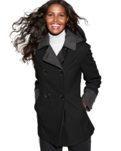 Nautica Coat, Hooded Colorblock Pea Coat-NAUTICA-Fashionbarn shop