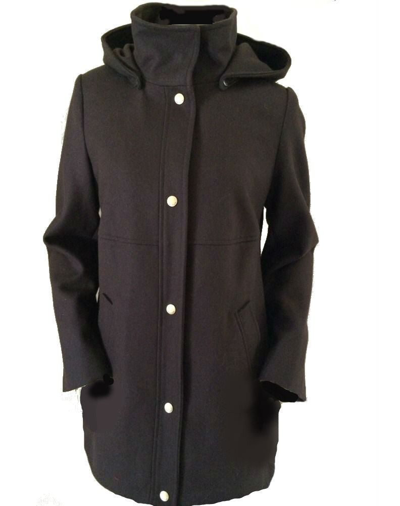 Nautica Jacket, Hooded Layered Wool-Blend-NAUTICA-Fashionbarn shop