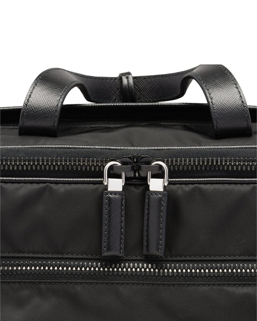 Prada Nylon and Saffiano Leather Work Bag