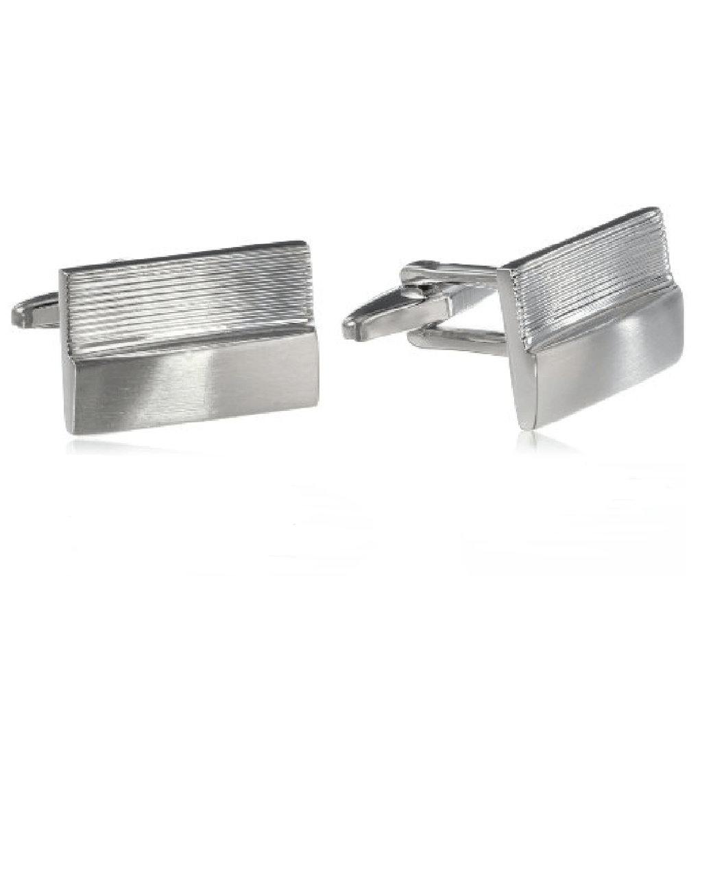 Kenneth Cole Reaction Men's Engraved Lines Cufflinks-KENNETH COLE-Fashionbarn shop