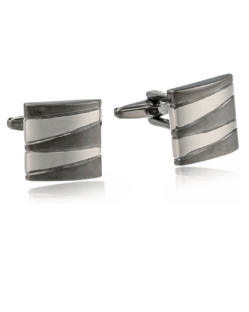 Kenneth Cole Reaction Men's Zig Zag Square Cufflinks-KENNETH COLE-Fashionbarn shop