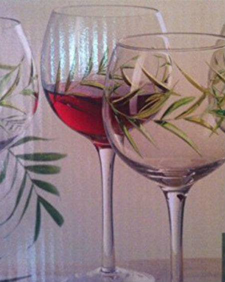 Gibson Palm Court Set of 4 - 18 Ounce Wine Glasses-GIBSON-Fashionbarn shop