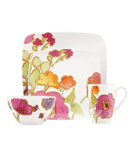 Lenox Floral Fusion Square 4-Piece Place Setting-LENOX-Fashionbarn shop