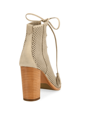 FRYE Gabby Perforated Ghillie Lace-Up Nubuck Sandals