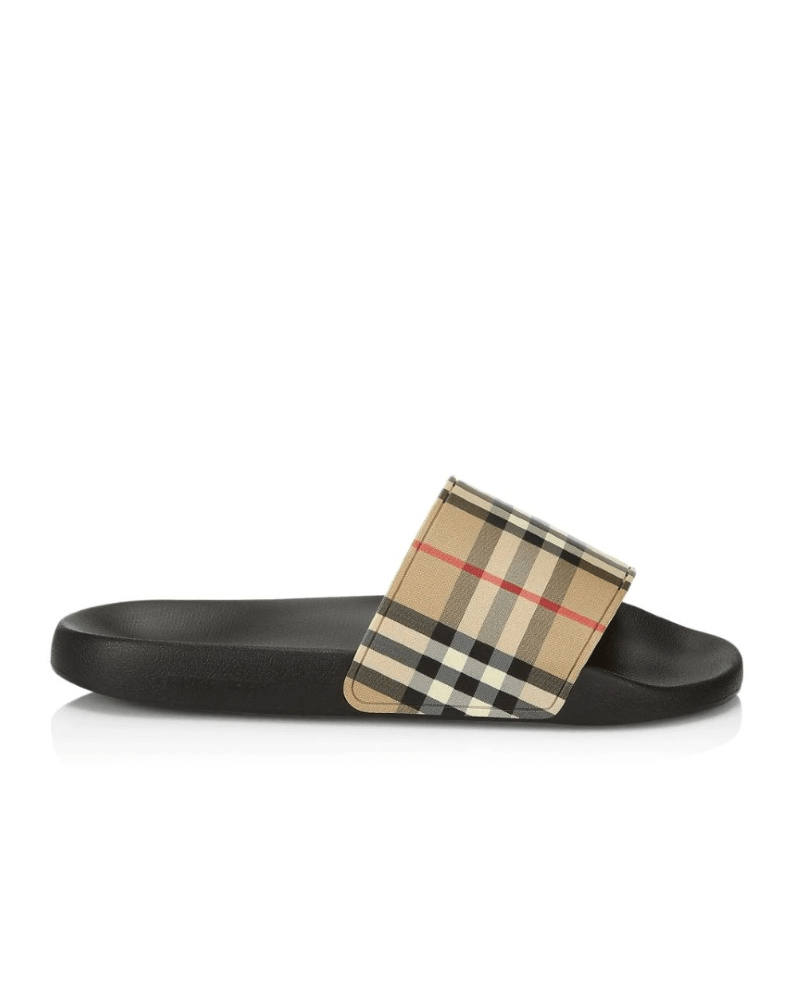 Burberry Men's Furley Vintage Check Pool Slides