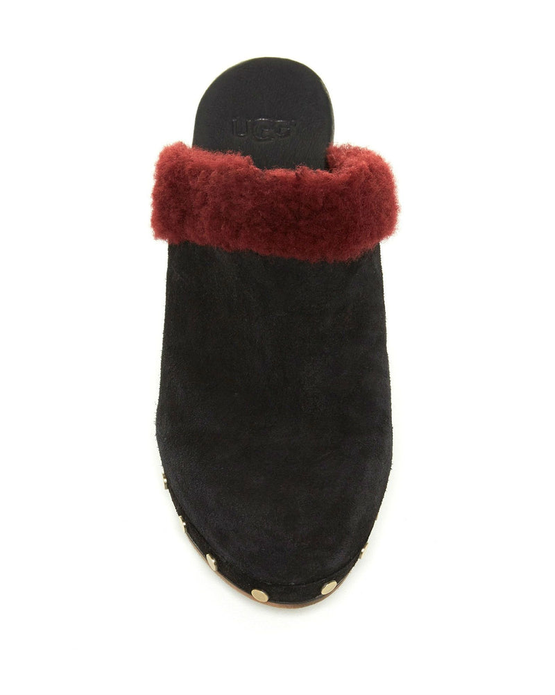 UGG Adele Genuine Lamb Fur Trim Mule