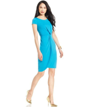 Bar III Draped Twist-Front Dress-BAR III-Fashionbarn shop