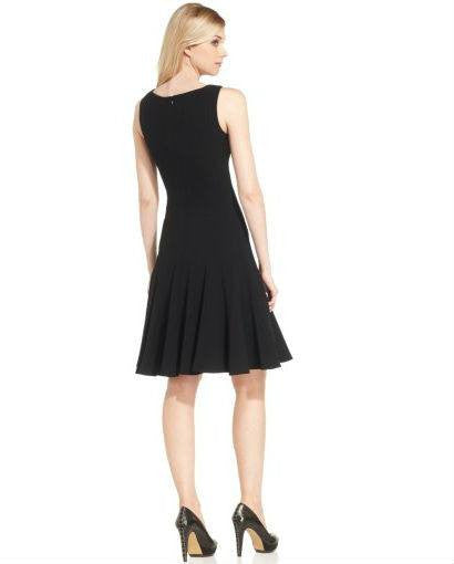 Calvin Klein Petite Sleeveless Seamed Dress-CALVIN KLEIN-Fashionbarn shop