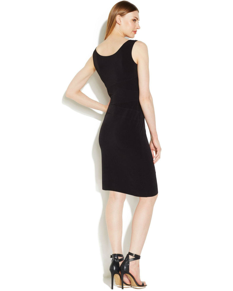 Calvin Klein Sleeveless Mesh-Panel Sheath-CALVIN KLEIN-Fashionbarn shop