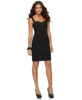 JS COLLECTIONS JS COLLECTIONS DRESS, SLEEVELE BLACK 10-JS COLLECTION-Fashionbarn shop