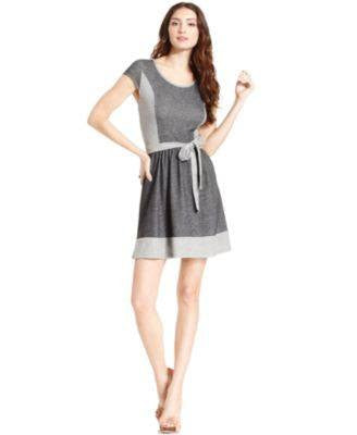 KENSIE DRESS CAP-SLEEVE COLORBLOCK-KENSIE-Fashionbarn shop