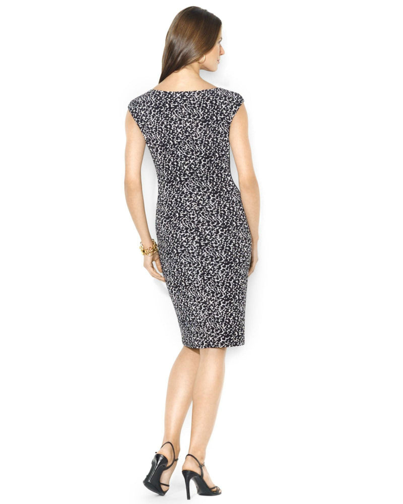 Lauren Ralph Lauren Cap-Sleeve Polka-Dot Dress-LAUREN RALPH LAUREN-Fashionbarn shop