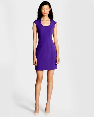 Marc New York by Andrew Marc Cap Sleeve Sheath Dress-MARC NEW YORK by ANDREW MARC-Fashionbarn shop