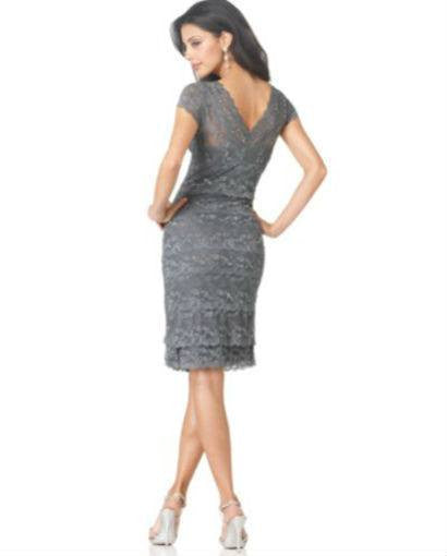 Marina Cap-Sleeve Lace Dress-MARINA-Fashionbarn shop