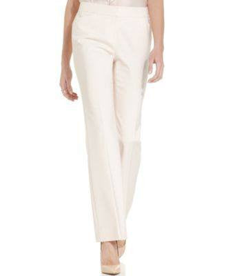ANNE KLEIN PETITE STRAIGHT-LEG DRESS PANT PALE PINK 6P-ANNE KLEIN-Fashionbarn shop
