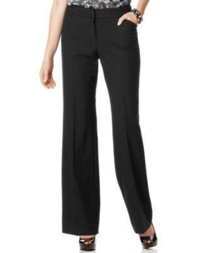 TAHARI ASL RELAXED-FIT TROUSERS BLACK 4S-TAHARI BY ASL-Fashionbarn shop