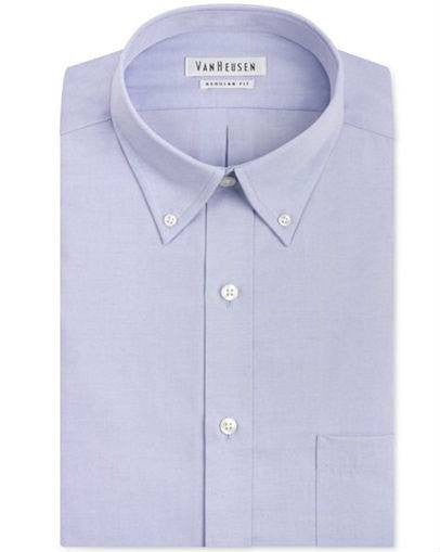 Van Heusen Easy Care Pinpoint Oxford Dress Shirt-VAN HEUSEN-Fashionbarn shop