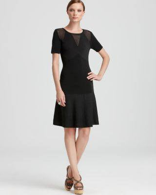 ST JOHN SHORT SLEEVELESS BLACK KNIT DRESS-MOSCHINO CHEAP AND CHIC-Fashionbarn shop