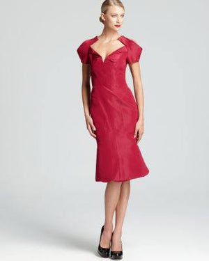 ST JOHNS SLEEVE NACKLNE DRESS-ZAC POSEN-Fashionbarn shop