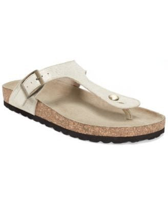 WHITE MOUNTAIN CHICORY THONG SANDALS WHITE-WHITE MOUNTAIN-Fashionbarn shop