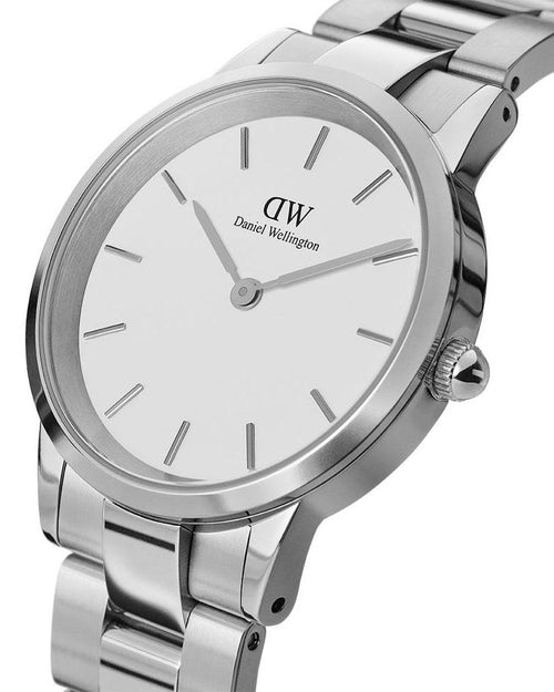 Daniel Wellington Men's Iconic Link 36mm Watch. Silver