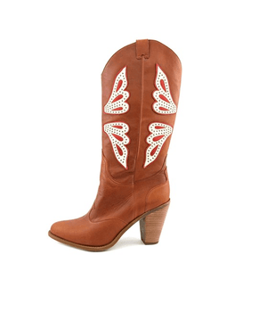 Jessica Simpson Caralee Cowboy Boots New Luggage Combo - Fashionbarn shop - 3