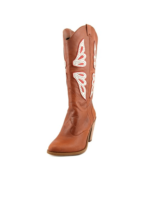 Jessica Simpson Caralee Cowboy Boots New Luggage Combo - Fashionbarn shop - 1