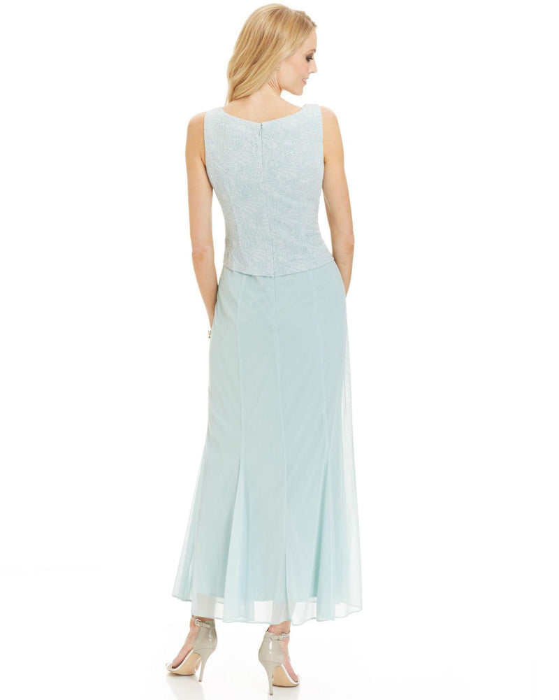 Alex Evenings Blue Petite Sleeveless Glitter Gown And Jacket-ALEX-Fashionbarn shop