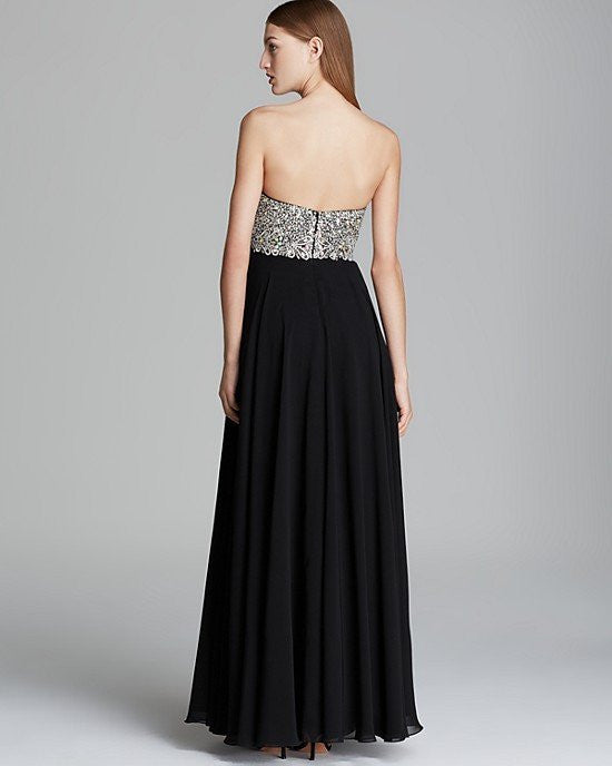 Decode 1.8 Gown - Beaded Bustier with Chiffon Skirt-DECODE-Fashionbarn shop