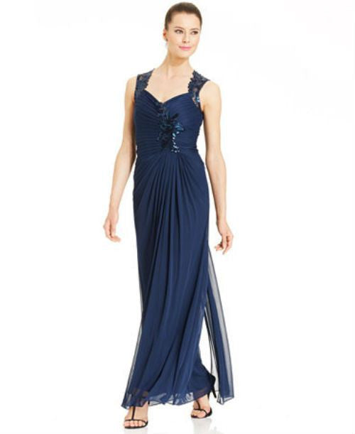 Ignite Illusion Sequin Ruched Gown-JR NITES-Fashionbarn shop