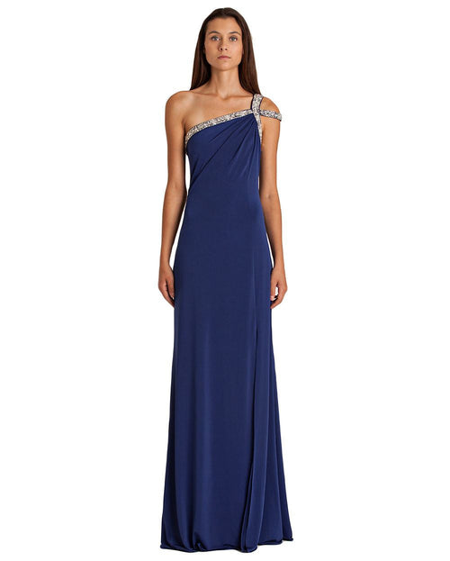 JS Boutique One-Shoulder Embellished Gown-JS BOUTIQUE-Fashionbarn shop