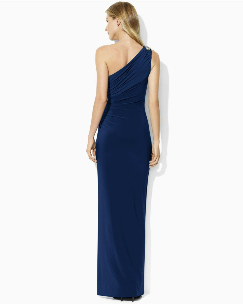 Lauren Ralph Lauren One-Shoulder Evening Gown-LAUREN RALPH LAUREN-Fashionbarn shop