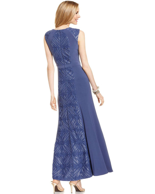 Patra Petite Sleeveless Soutache Panel Gown-PATRA-Fashionbarn shop