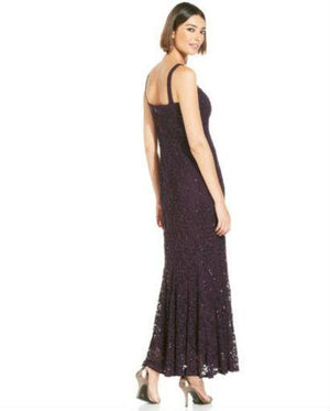 R&M Richards Sleeveless Sequin Lace Gown and Jacket-R & M RICHARDS-Fashionbarn shop