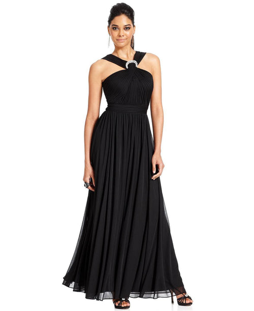 Alex Evenings Sleeveless Jewel Halter Gown-ALEX-Fashionbarn shop