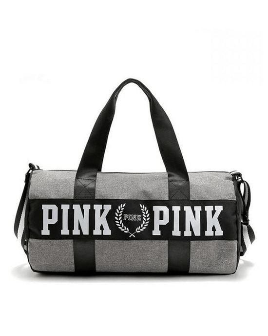 Pink Large Nylon Weekender Duffel Bag