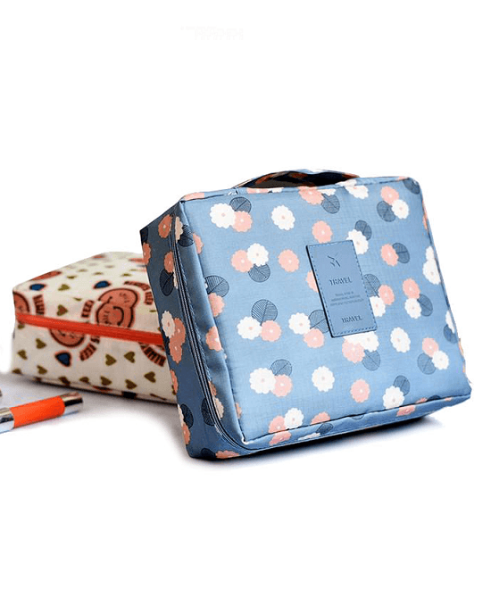 Flowers Print Waterproof Traveling Party Toiletries Bag