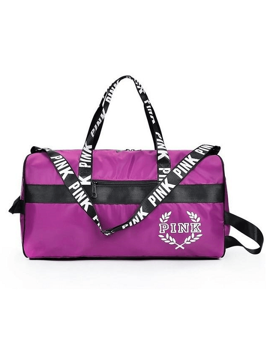 Pink Oxford Sport Duffel Bag