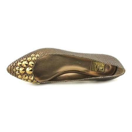 Falchi by Falchi Reese Bronze Leather Flats-FALCHI BY CARLOS-Fashionbarn shop