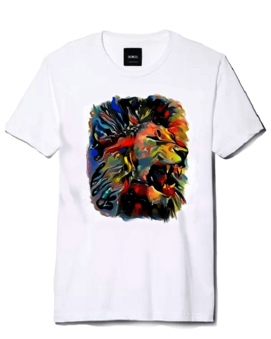 Men's Lion Printing T-Shirt