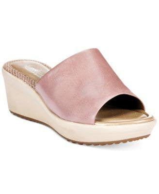 EASY SPIRIT CORVINA PLATFORM WEDGE SANDALS LIGHT TAUPE-EASY SPIRIT-Fashionbarn shop