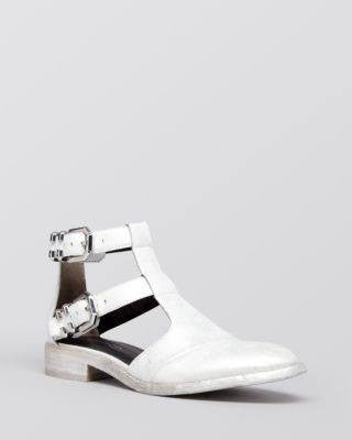 Kenneth Cole Silver Flat Sandals Stagg-KENNETH COLE-Fashionbarn shop