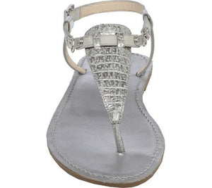 "Vince Camuto ""Itelli"" Leather T-Strap Thong Flat Sandal Gold-VINCE CAMUTO-Fashionbarn shop"