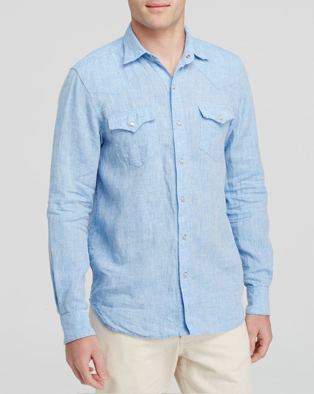 Freemans Sporting Club Men's Blue Western Button Down Shirt - Regular Fit