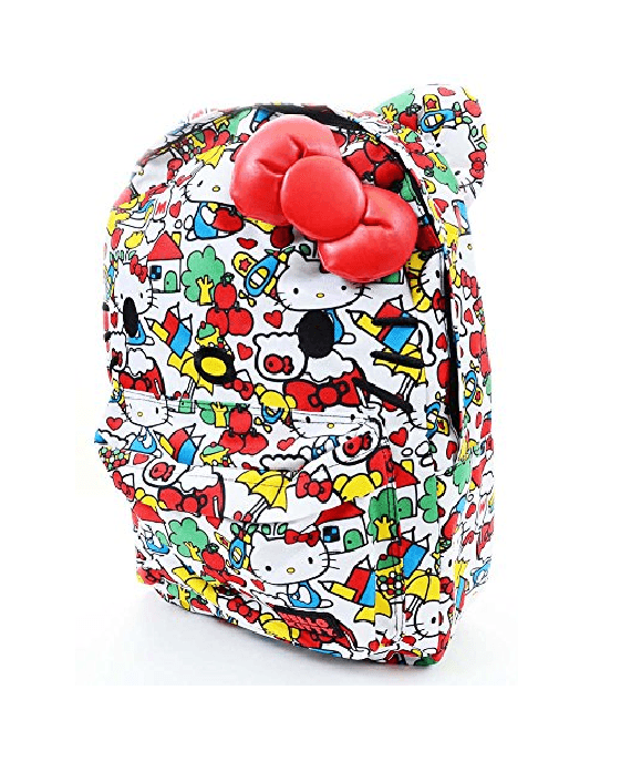 Hello Kitty Classic Vintage Print Face Backpack - Fashionbarn shop - 2