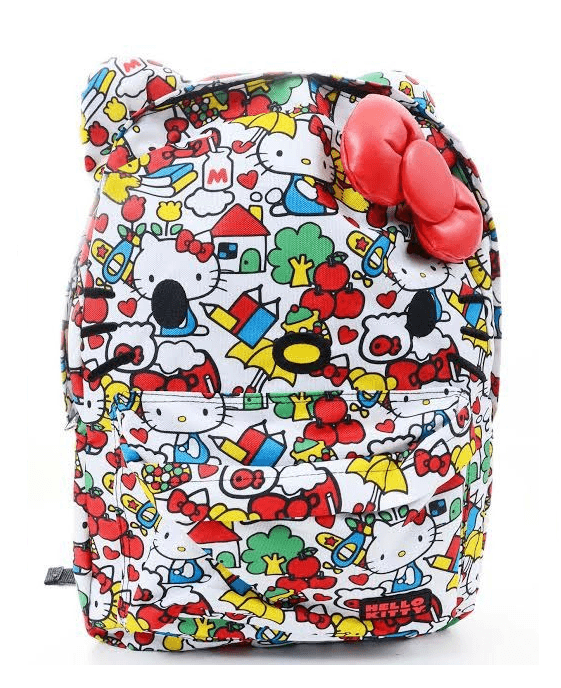 Hello Kitty Classic Vintage Print Face Backpack - Fashionbarn shop - 1