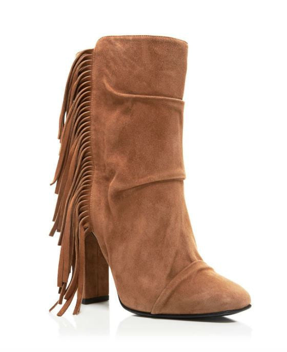 Giuseppe Zanotti Alabama Round Toe Suede Tan Boot - Fashionbarn shop - 1